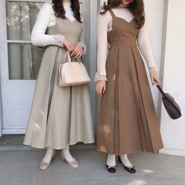 mellow's 3wayリボンジャンパースカートの画像2枚目