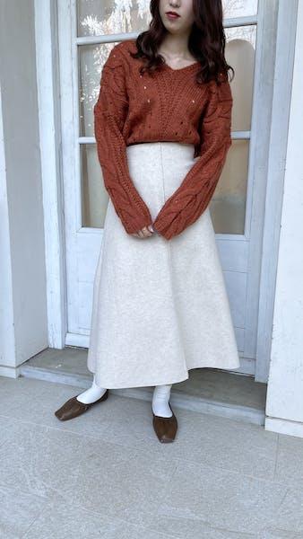 パイピングウールスカートの画像16枚目