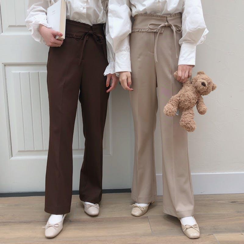 mellow's  リボンスラックスパンツの画像1枚目