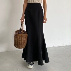 mermaid flare long skirt