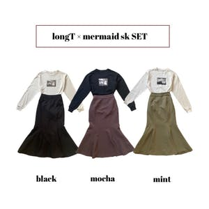 mermaid skirt × long Tshirts SET