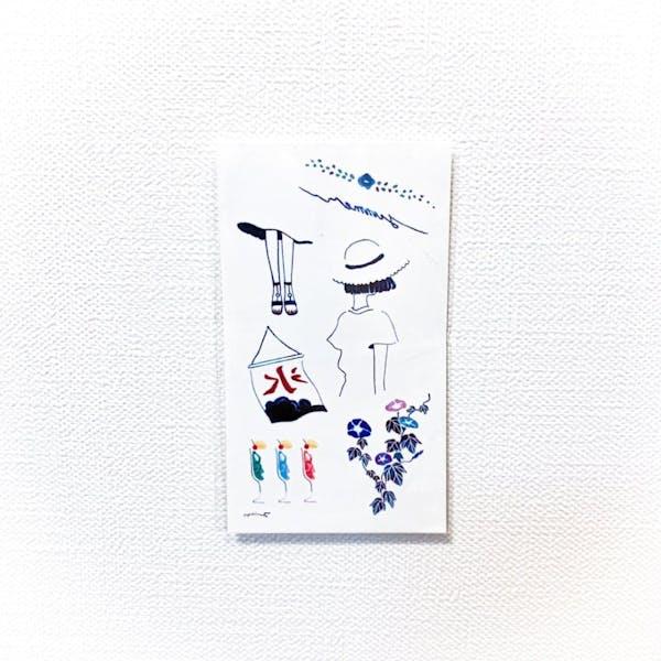 Japanese summer - Yurayura / fujiroolling コラボ[ID: scr0417]の画像1枚目