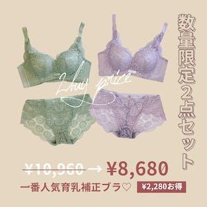 【数量限定2000円OFF】一番人気 機能性 補正育乳ブラ2点セット お一人様2点まで