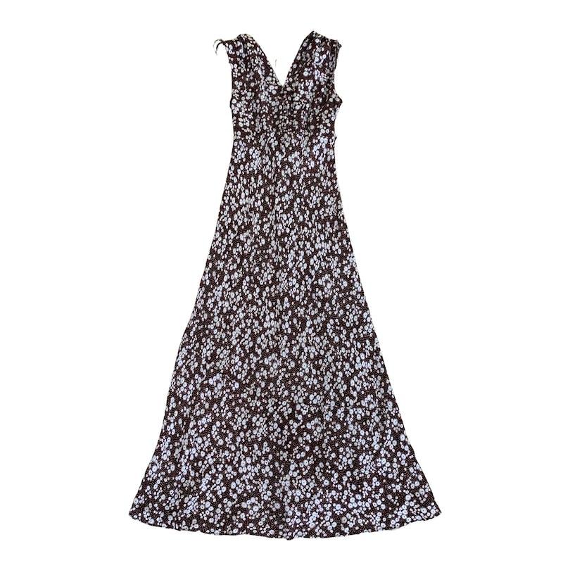 フラワードットロングドレスの画像1枚目