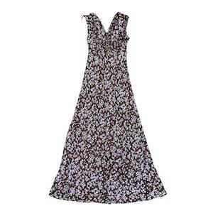 フラワードットロングドレス