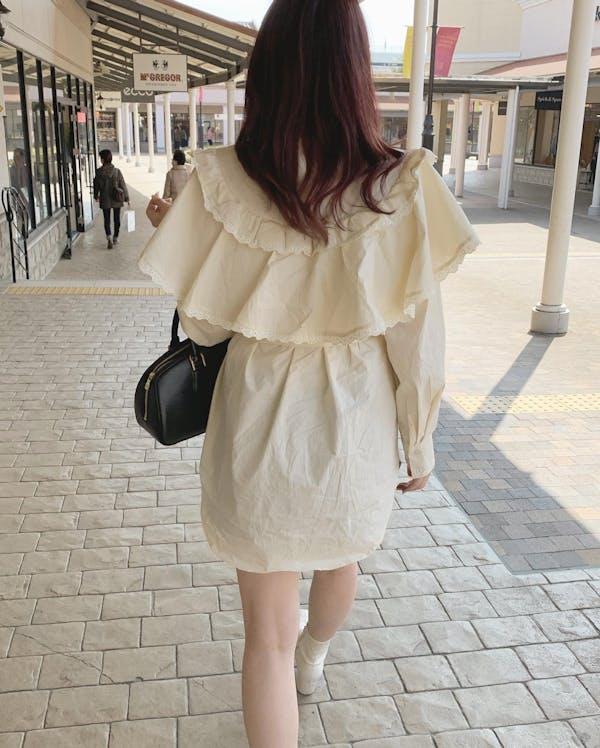frill cape blouseの画像2枚目
