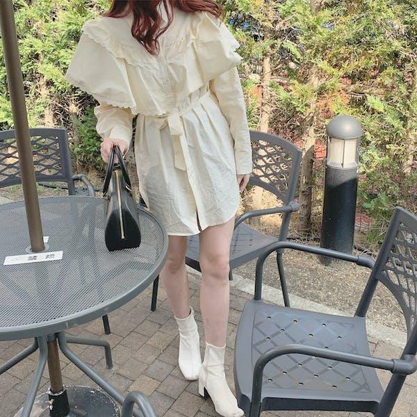 frill cape blouseの画像5枚目