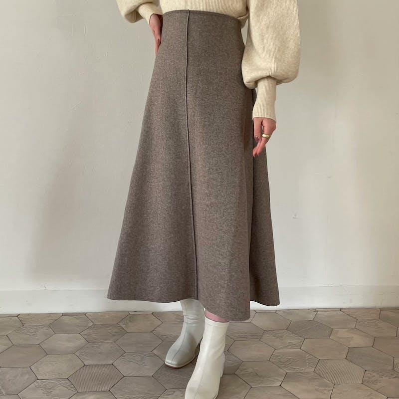 パイピングウールスカートの画像1枚目
