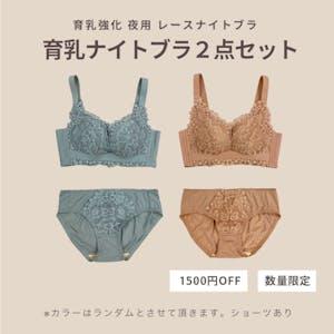 【数量限定 1500円OFF】育乳強化ナイトブラ2点セット