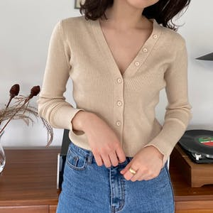 2way vneck cardigan tops
