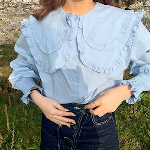 double frill  blouse