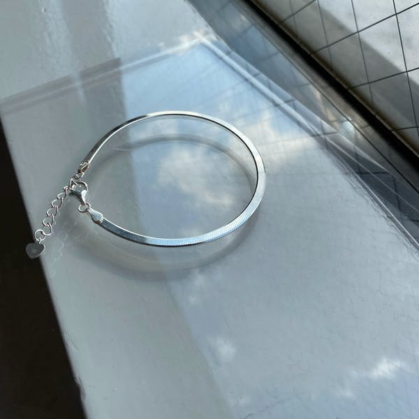 snake chain braceletの画像2枚目