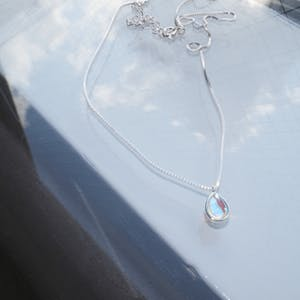 tear moon. necklace