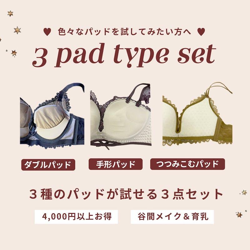 【4000円以上お得】3種類パッドが試せる!育乳ブラ組み合わせ3点セットの画像1枚目