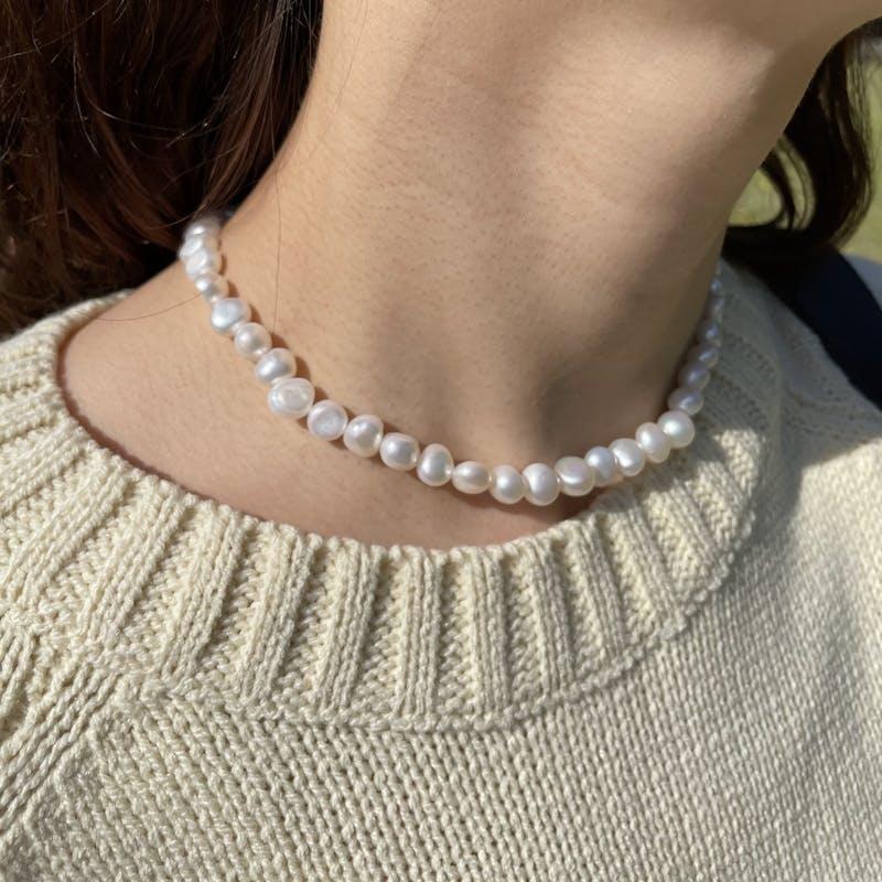 baroque pearl necklaceの画像1枚目