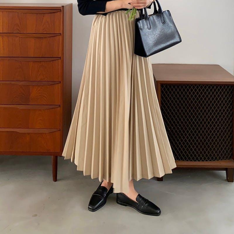 volume pleats skirtの画像1枚目