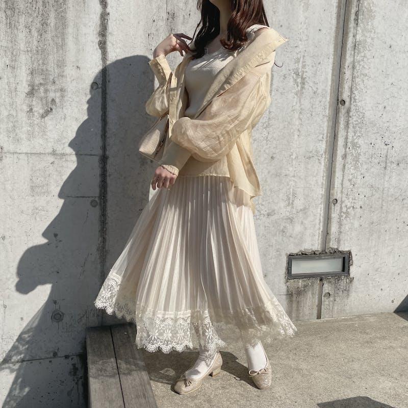 2wayガーリーレーススカートの画像2枚目