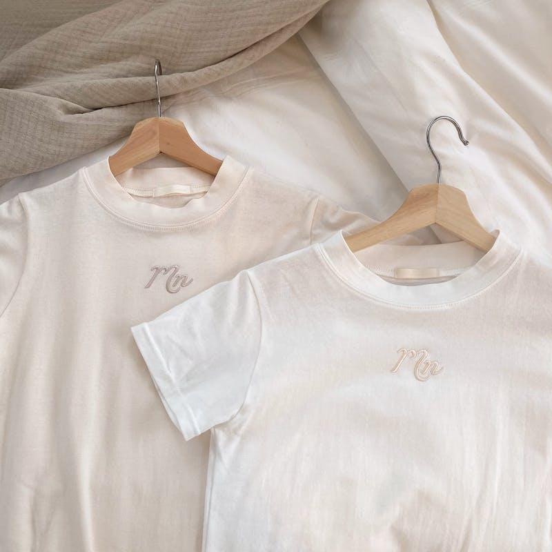 mellow's ハイネック刺繍Tシャツの画像2枚目