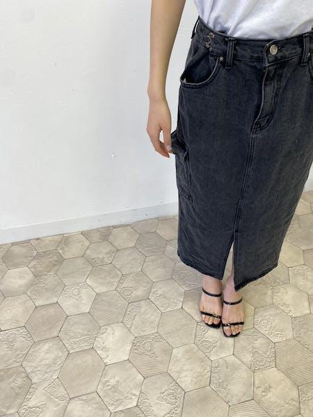 こなれブラックデニムスカートの画像10枚目