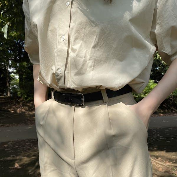 simple leather beltの画像1枚目