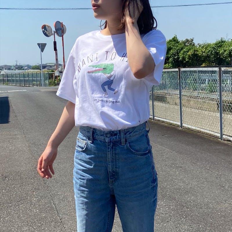 """wani to hito"" Tシャツの画像2枚目"