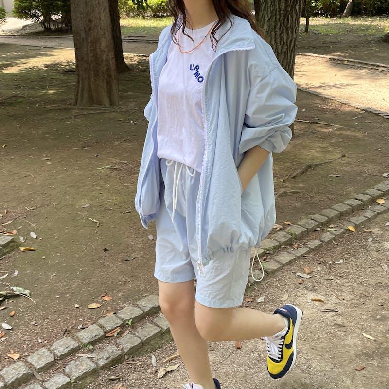 nylon blouson & shorts setの画像1枚目