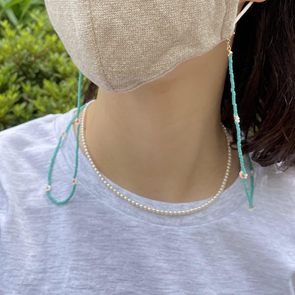 flower beads multi necklaceの画像1枚目