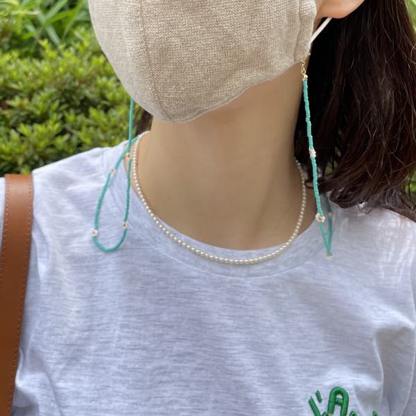 flower beads multi necklaceの画像2枚目