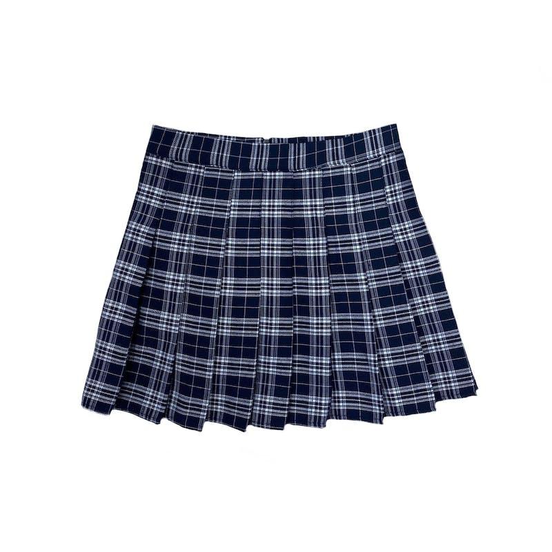 アイドルチェックプリーツスカートの画像1枚目