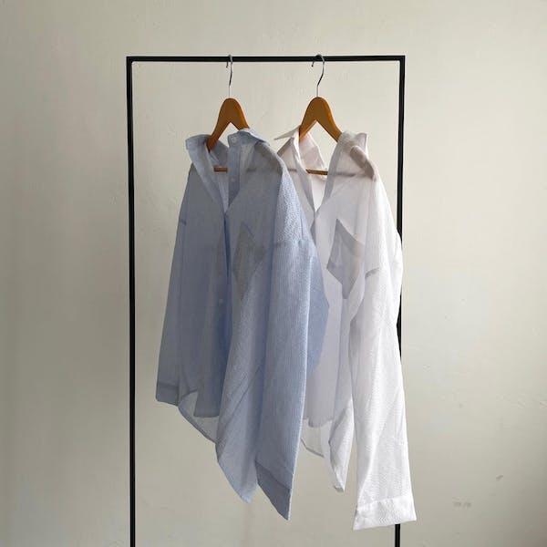 デイリーストライプシャツの画像1枚目