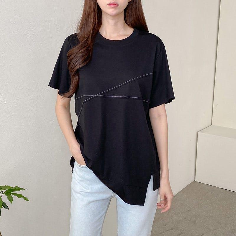 スラッシュステッチTシャツの画像1枚目