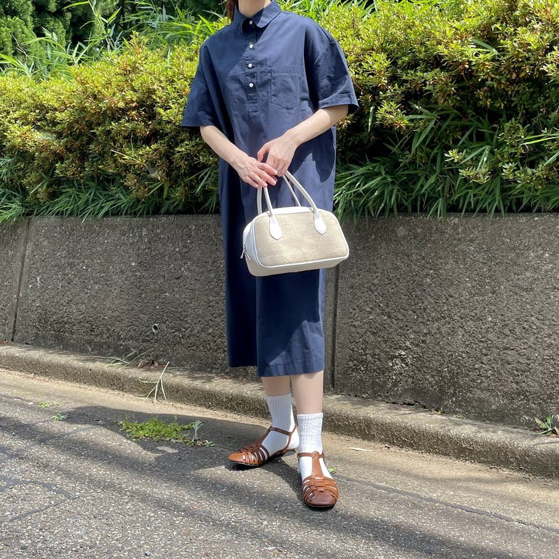 short sleeve shirt dressの画像2枚目