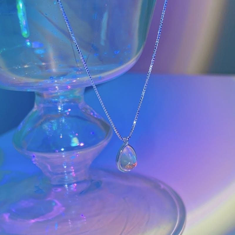 tear moon. necklaceの画像2枚目