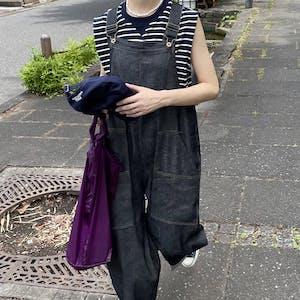 loose denim overalls