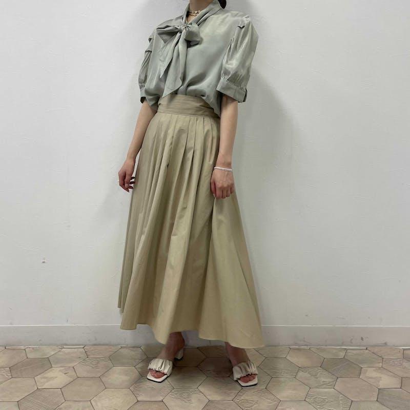 back ribbon flare skirtの画像9枚目