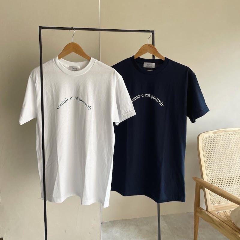 rêve original ロゴTシャツの画像1枚目