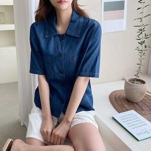 デニムシャツ T016