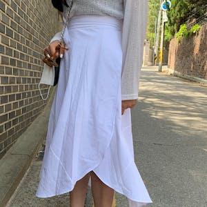 カバーラップスカート H019