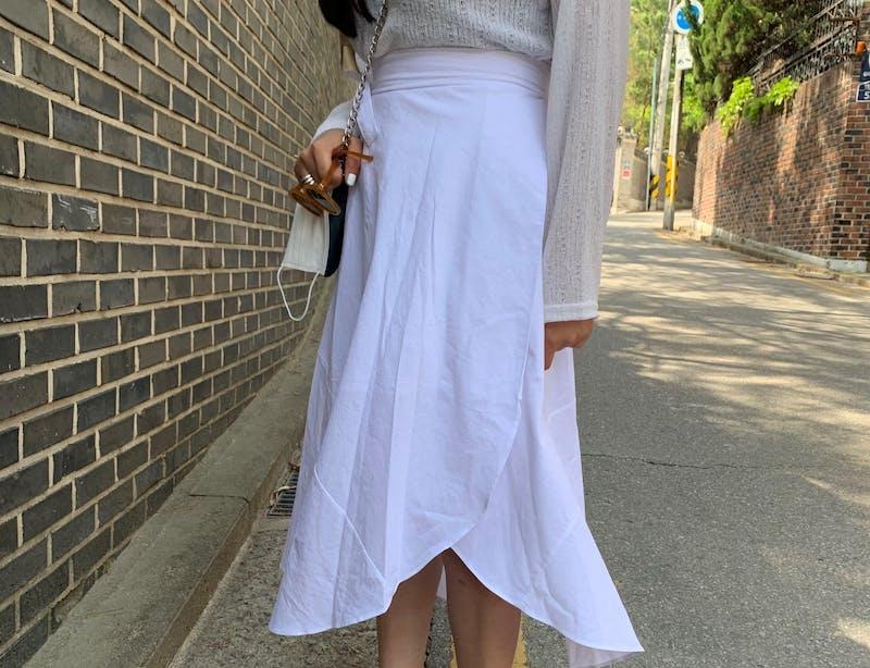 カバーラップスカート H019の画像10枚目