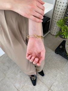 oblong chain bracelet
