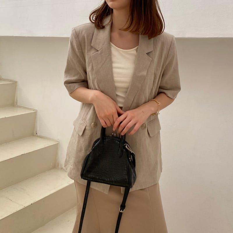 linen classic Jacketの画像1枚目