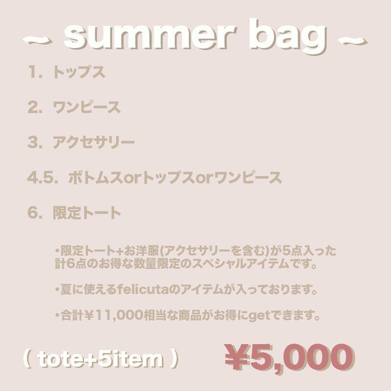 summer bag ( tote+5item )の画像2枚目