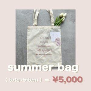 summer bag ( tote+5item )