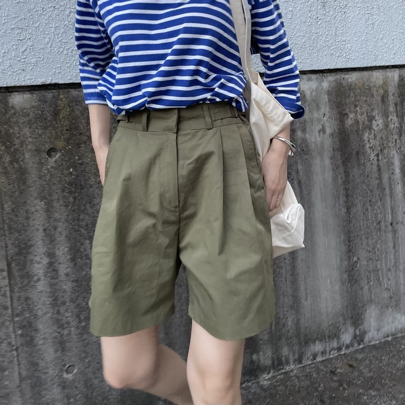 belted short pantsの画像1枚目