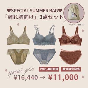【5,000円以上お得】SUMMER BAG「離れ胸向け」3点セット