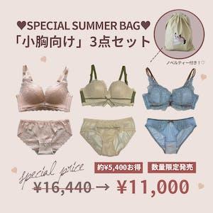 【5,000円以上お得】SUMMER BAG「小胸向け」盛れる3点セット