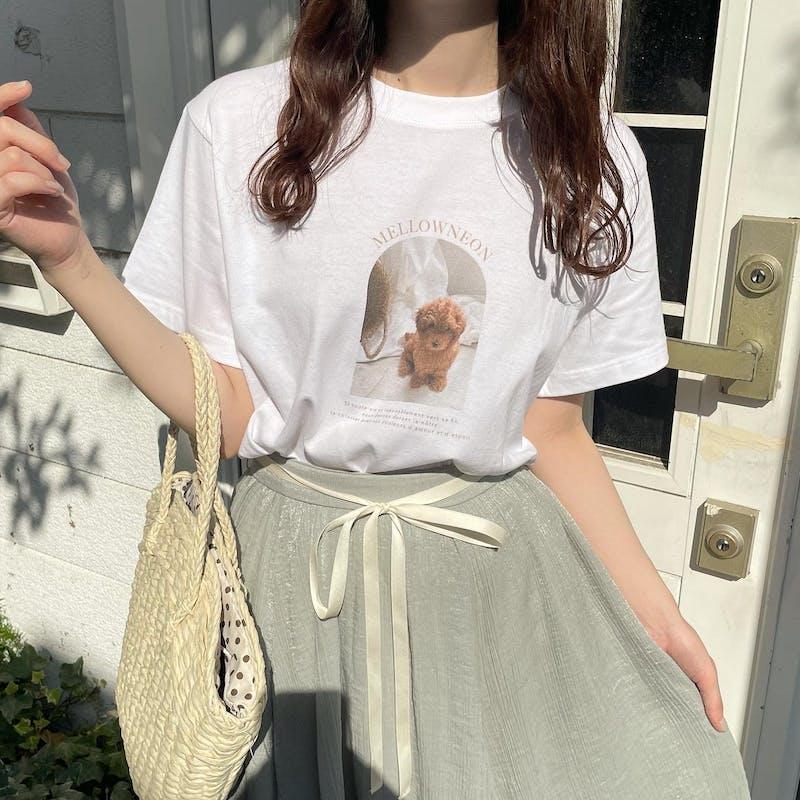 mellow's プードルTシャツの画像2枚目