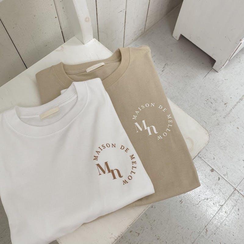 mellow's ゆるロゴTシャツの画像2枚目