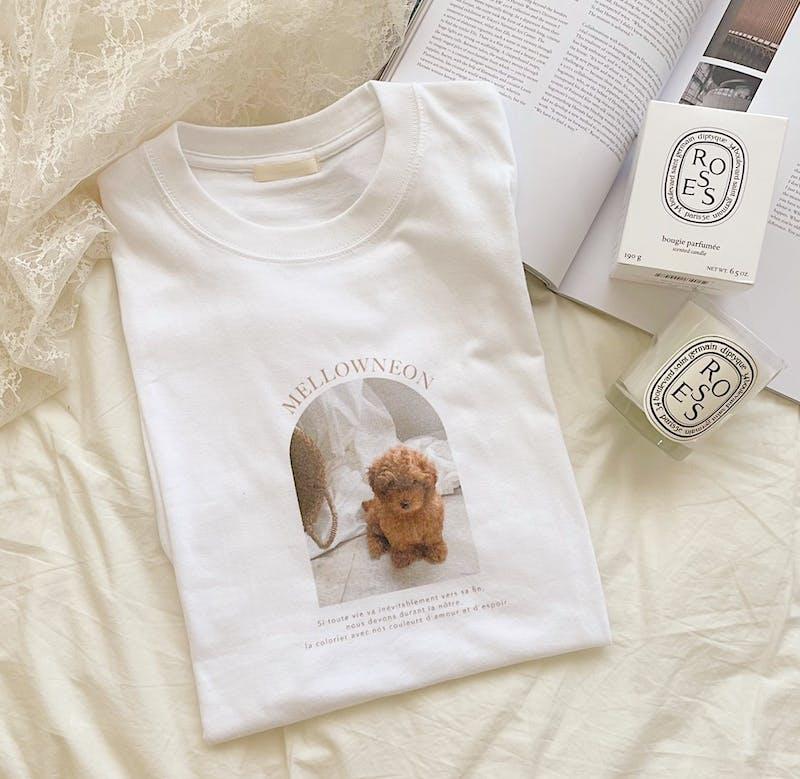 mellow's プードルTシャツの画像1枚目