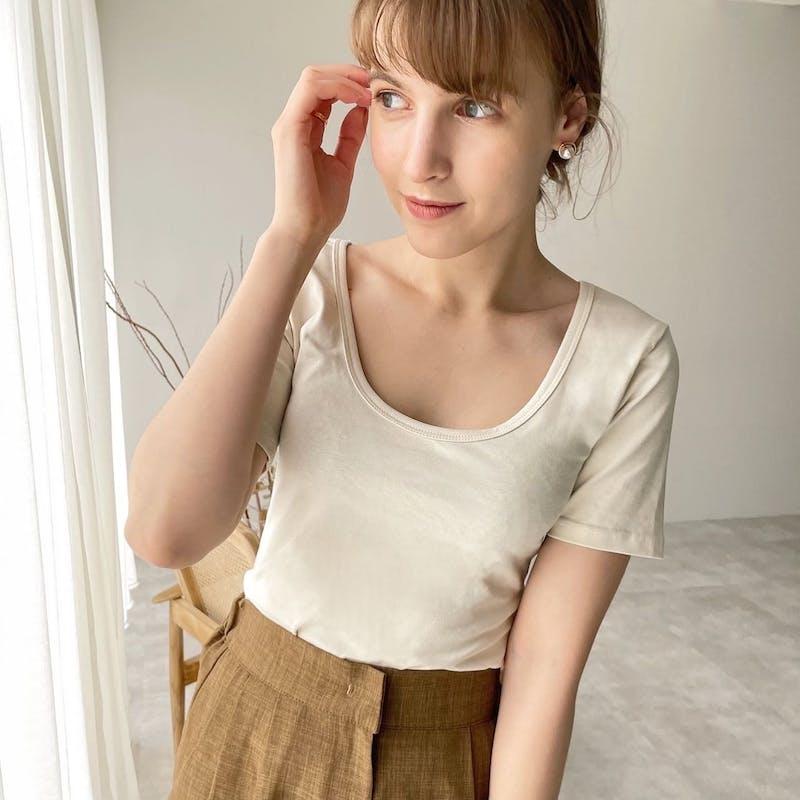 2wayシンプルTシャツの画像2枚目